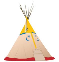 tipi - native american vector image
