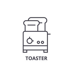 toaster line icon outline sign linear symbol vector image vector image