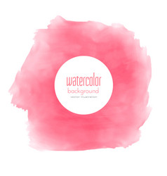 Watercolor pink stain texture background vector