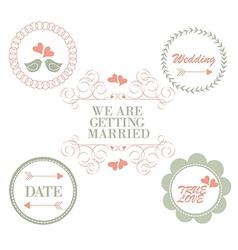 Wedding vinteage vector