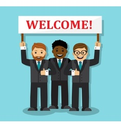 Welcome to our business team vector image vector image