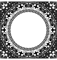 white pattern of spirals swirls and chains vector image