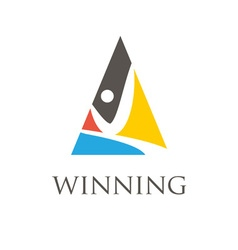 Winning man symbols vector