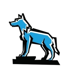 Wolf emblem vector