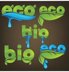 Eco and bio ecological letters vector