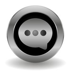 Metallic speech button vector image