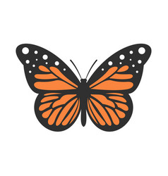 big butterfly icon flat style vector image
