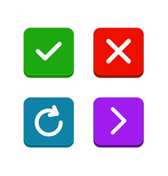 check delete or close refresh arrow icons set vector image