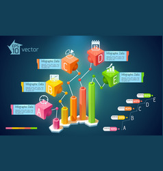 Abstract business chart infographics vector