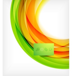 Green and orange wave abstract background vector