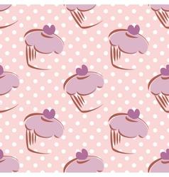 Seamless lavender pattern or tile background vector image