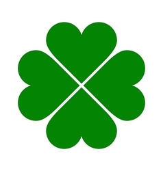 Clover with four leaves icon vector