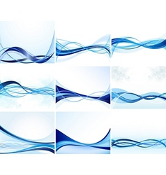 modern waves vector image