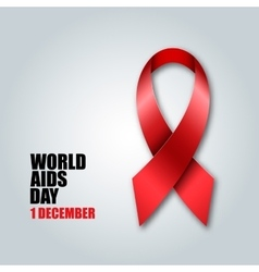 World aids day concept red ribbon vector