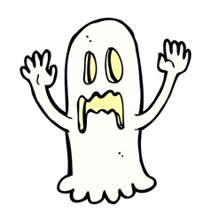 Comic cartoon spooky ghost vector