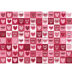 Seamless pattern of hearts for valentine day vector