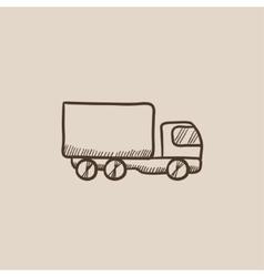 Delivery truck sketch icon vector