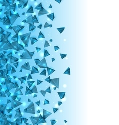 Abstract background with pyramids with light vector