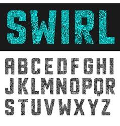 Abstract swirl alphabet vector image