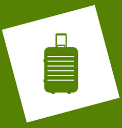 Baggage sign white icon vector