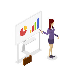 business presentation isometric 3d icon vector image