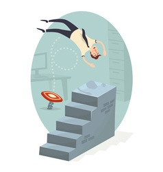 Career ladder vector image vector image