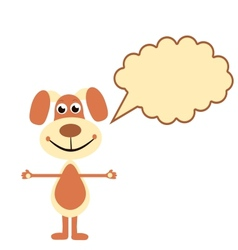 cartoon dogs with speech bubble vector image