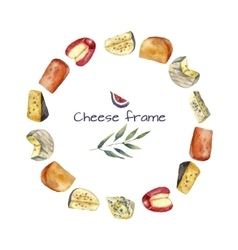 Cheese round frame vector