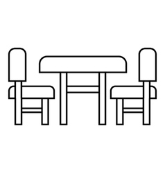 Children furniture icon outline style vector