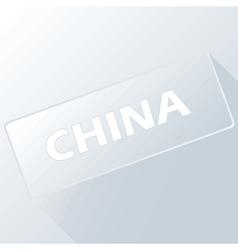 China unique button vector