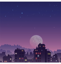 City by Night vector image vector image