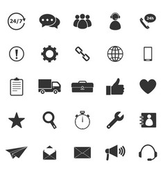 customer service icons on white background vector image vector image