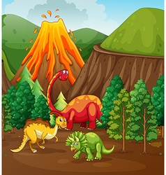 Dinosaur living in the forest vector image vector image