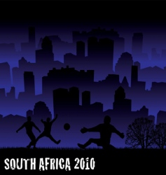 football South Africa 2010 vector image vector image