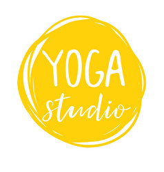 for an yoga studio vector image