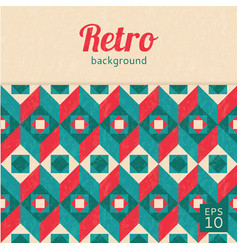 Geometric abstract background retro style vector