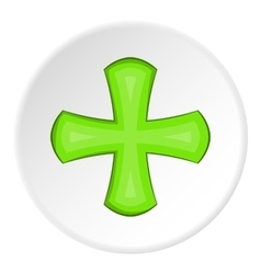 Green cross icon cartoon style vector image vector image