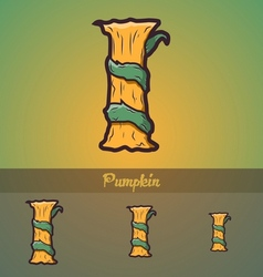 Halloween decorative alphabet - I letter vector image vector image