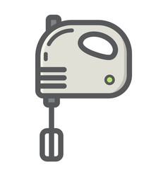 Hand mixer colorful line icon household vector