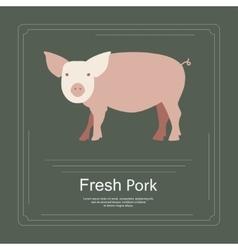 Logotipe of fresh pork vector