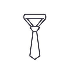 necktietie line icon sign vector image