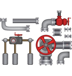 Pipes vector image vector image