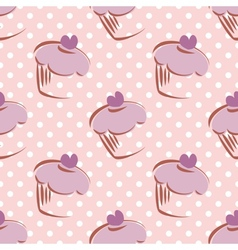 Seamless lavender pattern or tile background vector image vector image
