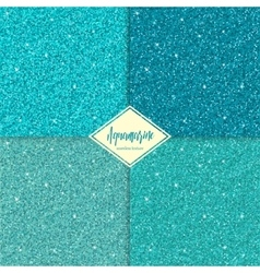Set of aquamarine seamless texture vector image vector image