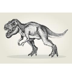 Sketch of a tyrannosaurus rex vector