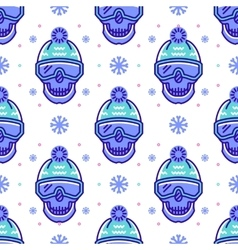 Snowboard pattern winter sport seamless design vector image vector image