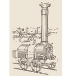 Steam locomotive cherepanovs vector
