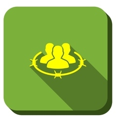 Strict management longshadow icon vector