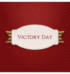 Victory day realistic paper banner template vector
