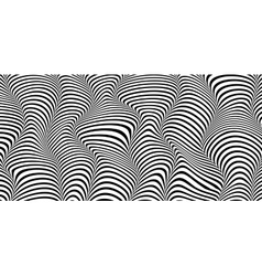 wave striped textured vector image
